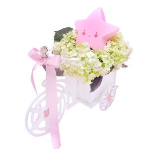 bici flores y lampara estrella para bebe