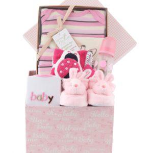 caja decorativa de regalo para bebe