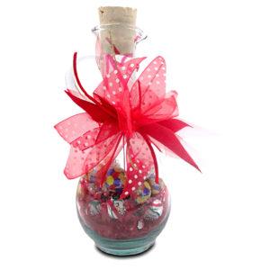 frasco de chocolates