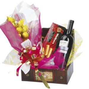 chocolates y vino