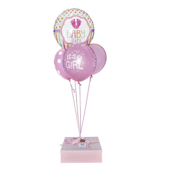 Caja con globos para bebe