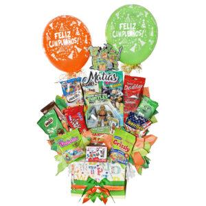 ancheta de dulces para niño cumpleaños