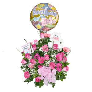 Arreglo Floral oso princesa