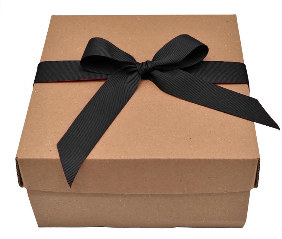 Caja de regalo para hombre moño negro