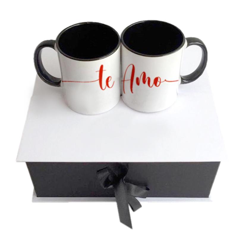 Set de 2 mugs en caja elegante