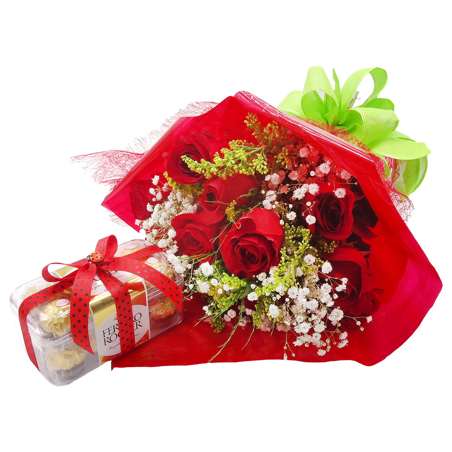Regalo Bouquet de Rosas con Chocolates