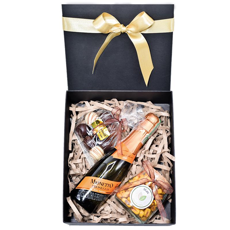 Caja Champaña y chocolates