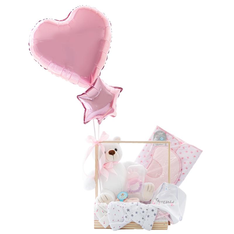 regalo para bebe con muñeco cambiador gorros y body personalizado