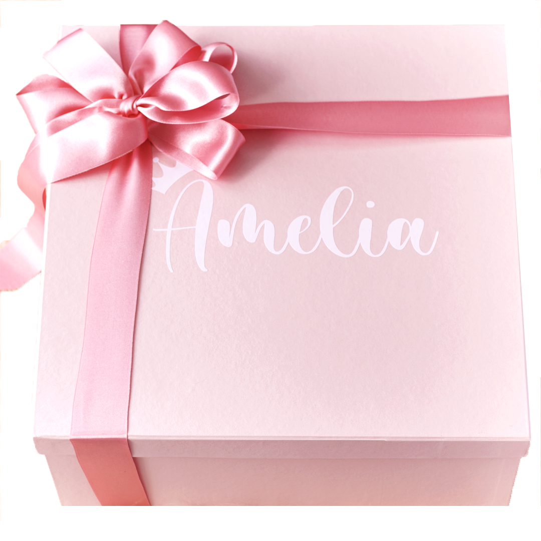 caja decorativa para bebe personalizada con nombre del bebé