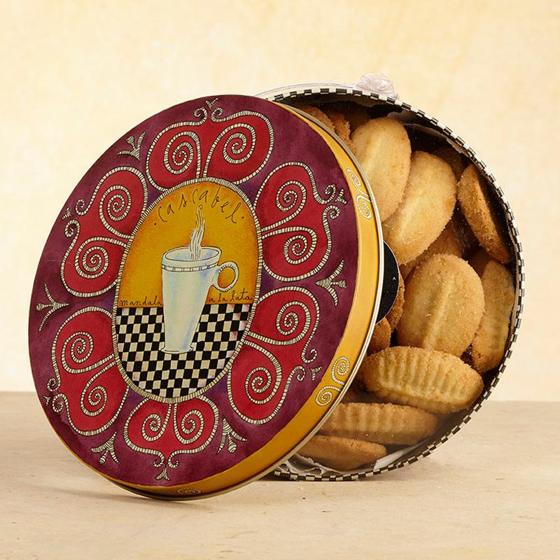 lata de galletas cascabel con diseño